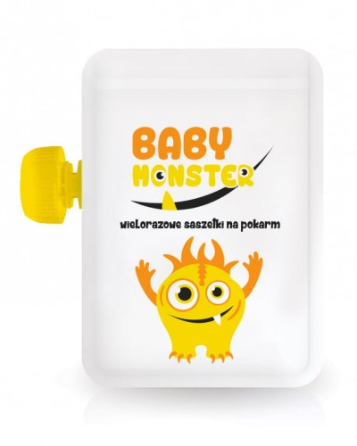 Saszetka wielorazowa Baby Monster 100ml